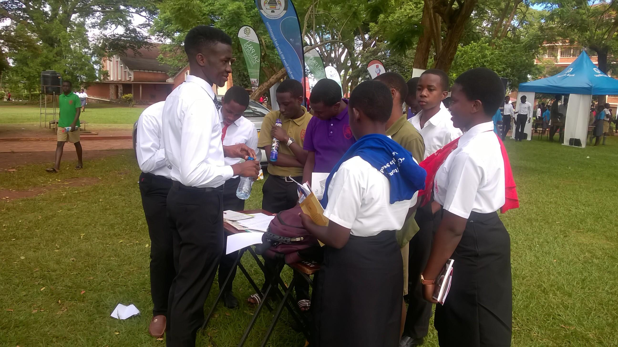 Edmund exhibits at the King`s College Budo 2018 Careers Day.